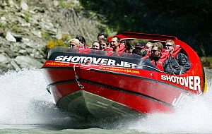 Shotover jet boat, Shotover River, Queenstown, New Zealand.  -  Barry Bland