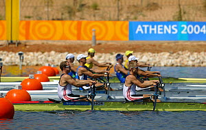 Men's Double Sculls Heat, Olympic Games, Athens, Greece, 14 August 2004.  Editorial Use Only.  -  Barry Bland