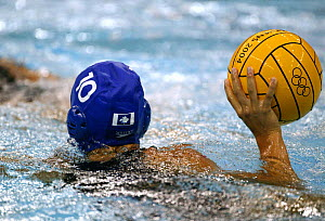 Hungary versus Canada during a water polo match at the Olympic Games, Athens, Greece, 19 August 2004.  Editorial Use Only.  -  Barry Bland