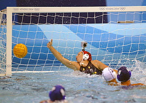 Australia versus Greece during a water polo match at the Olympic Games, Athens, Greece, 19 August 2004.  Editorial Use Only.  -  Barry Bland
