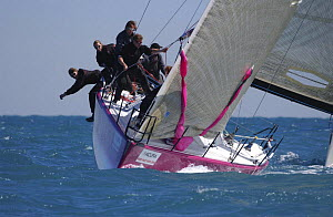 """Farr 40 """"Mean Machine"""", day 1 during Acura Miami Race Week USA, March 10th 2005.  -  Rick Tomlinson"""