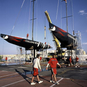 """French """"K-Challenge"""" headquarters for the 2007 America's Cup, Valencia, Spain, 2005. - Franck Socha"""