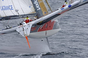 "A ""Brossard"" ORMA 60ft trimaran sailing. For EDITORIAL use only. - Yvan Zedda"