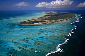 Aerial view of Anegada Island, the only reef based island in the British Virgin Islands (BVI)  -  Roberto Rinaldi