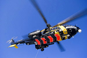 Helicopter hovering during a training excercise on the North Sea. - Philip Stephen