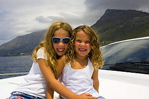 Mr. Chuck Schoninger's two daughters cruising the Tirrenian sea on board his brand new Pershing 62, Maratea, Italy.  -  Angelo Giampiccolo