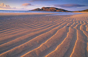 Sand patterns on the beach Coll Inner Hebrides Scotland U  -  Niall Benvie