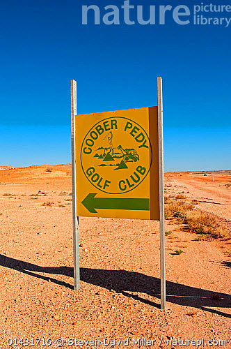 nature picture library sign for coober pedy golf course. Black Bedroom Furniture Sets. Home Design Ideas