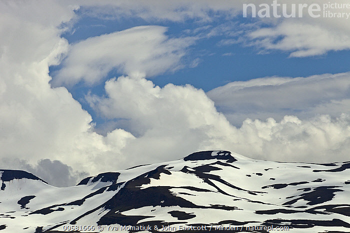 Mountains, Haganesvik, Iceland  ,  Blue Sky, Cloudy, Color Image, Day, Haganesvik, Horizontal, Iceland, Landscape, Mountain, Mountain Range, Nobody, Outdoors, Peak, Photography, Snow-covered,Iceland  ,  Yva Momatiuk & John Eastcott