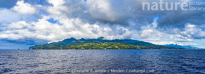 Island, Martinique, Caribbean  ,  Blue Sky, Caribbean, Cloudy, Color Image, Day, Horizontal, Island, Landscape, Martinique, Nobody, Outdoors, Panoramic, Photography, Tropical  ,  Shane P. White