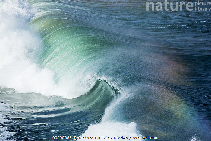 Wave, Western Cape, South Africa  ,  Aerial View, Breaking, Color Image, Day, Horizontal, Landscape, Nobody, Ocean, Outdoors, Photography, Rainbow, South Africa, Surface, Wave, Western Cape  ,  Richard Du Toit