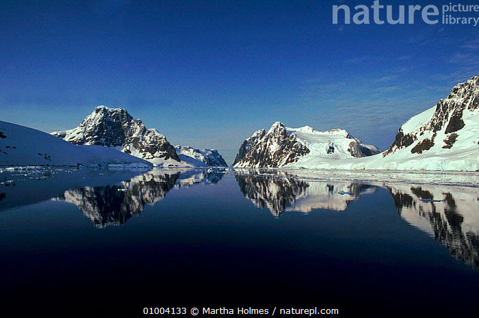 Reflection of Lemaire Channel, Antarctica, CHANNEL,HORIZONTAL,LEMAIRE,MH,REFLECTION,SEA,SNOW, Martha Holmes