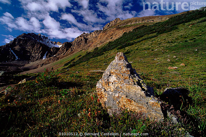 Bow summit area, Banff NP, Canada, MOUNTAINS,BANFF,ALPINE,HORIZONTAL,SUMMIT,BOW,NP,NATIONAL PARK,North America,CANADA,,Canadian Rocky Mountain Parks World Heritage Site, UNESCO World Heritage Site,Rocky Mountains,Rockies,NP,Reserve,, Bernard Castelein