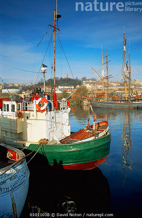 Bristol Docks, boats in the harbour, Bristol, UK, CITIES,EUROPE,LANDSCAPES,UK,URBAN,VERTICAL,United Kingdom,British, United Kingdom, United Kingdom, David Noton