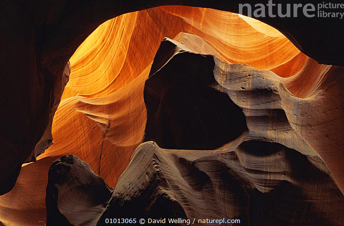 Abstract of sandstone formation in Corkscrew Canyon, Arizona, USA  ,  ABSTRACT,ARTY SHOTS,CAVES,COLOURFUL,GEOLOGY,INTERESTING,LANDSCAPES,ORANGE,OUTSTANDING,PATTERNS,RED,ROCK FORMATIONS,USA,North America  ,  David Welling