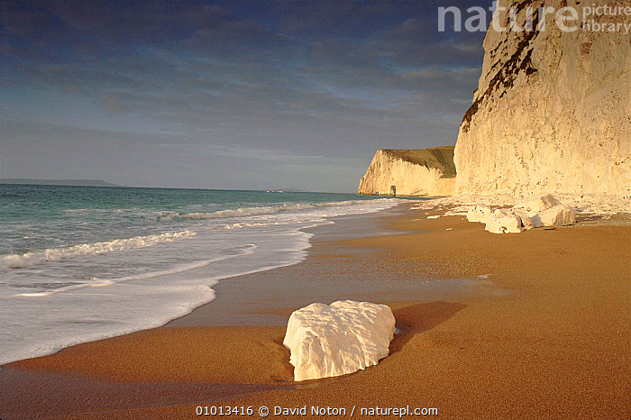 The beach at Durdle Dor, Dorset, England.  ,  ATMOSPHERIC,BEACH,BEACHES,CLIFFS,COASTAL,CONCEPTS,DNO,DOOR,DRAMATIC,DURDLE,ENGLISH,EUROPE,GEOLOGY,HOLIDAYS,OUTSTANDING,ROCK FORMATIONS,SCENE,SEA,SUNRISE,SUNSET,ENGLAND  ,  David Noton