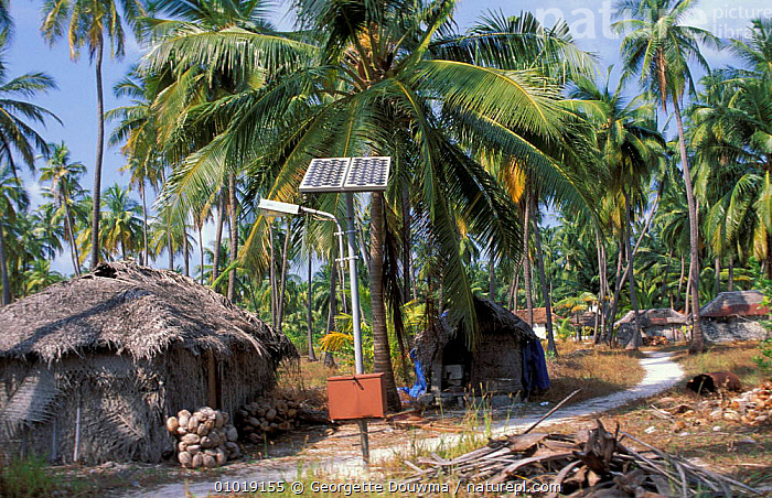 Solar power panel on Bangaram Island (former Laccadives) India  ,  ENERGY,FORMER,INDIAN SUBCONTINENT,LACCADIVES,ASIA  ,  Georgette Douwma