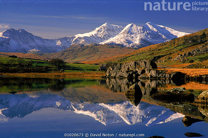 Mount Snowdon reflected in Llynnau Mymbyr, Snowdonia NP, UK, ATMOSPHERIC,BRITISH,CONCEPTS,DNO,DRAMATIC,EUROPE,GEOLOGY,HOLIDAYS,HORIZONTAL,LAKES,LANDSCAPES,LLYNNAU,MOUNT,MOUNTAINS,MYNBYR,NATIONAL PARK,NP,OUTSTANDING,PEACEFUL,REFLECTIONS,RESERVE,ROCK FORMATIONS,SNOW,SNOWDONIA,UK,UNITED KINGDOM,WINTER,WALES, United Kingdom, United Kingdom, United Kingdom, United Kingdom, United Kingdom, David Noton