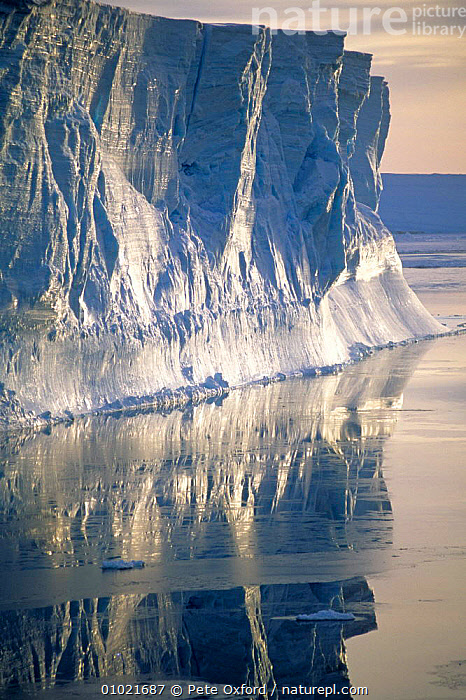 Tabular Iceberg in the Weddell Sea, Antarctica., ANTARCTICA,ARTY SHOTS,ATMOSPHERIC,BLUE,COASTS,DRAMATIC,HOLIDAYS,ICE,ICEBERGS,OUTSTANDING,PEACEFUL,POLAR,REFLECTIONS,THE SEA,Concepts, Pete Oxford