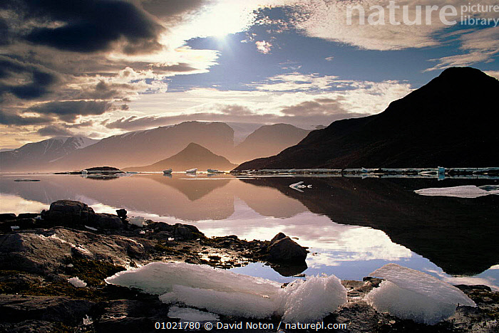 Ellesmere Island, Canada, FJORD,ATMOSPHERIC,SKY,DNO,ICE,MOUNTAINS,ARTY SHOTS,LANDSCAPES,ARCTIC,HORIZONTAL,REFLECTIONS,North America,CANADA, David Noton