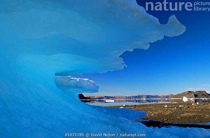 Alexandra fjordland ice formation, Ellesmere Island, Canadian Arctic, ARCTIC,CANADA,COASTAL WATERS,COASTS,FJORDLANDS,ICE,ICEBERG,ICEBERGS,LANDSCAPES,MARINE,NORTH AMERICA,POLAR,SEA,WEATHER, David Noton