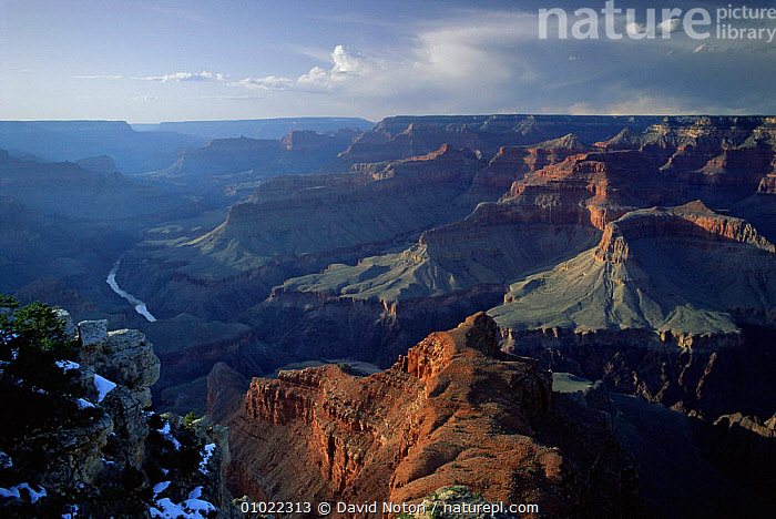 Grand Canyon in Arizona, USA., DESERTS,DRAMATIC,HOLIDAYS,LANDSCAPES,OUTSTANDING,RED,RIVERS,ROCK FORMATIONS,WHITE,Concepts,Geology,USA,North America, David Noton