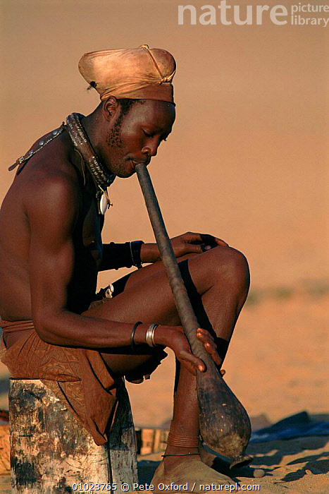 Himba married man in traditional dress, Kaokoland, Namibia. 1999., HIMBA,KAOKOLAND,MAN,PEOPLE,PO,SOUTHERN AFRICA,TRADITIONAL,TRIBES,VERTICAL, Pete Oxford