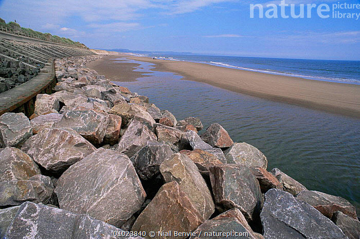 Coastal protection wall in place, to prevent further cliff and coastal erosion, Montrose, Scotland, COASTS,CONSERVATION,EROSION,EUROPE,man made,ROCK FORMATIONS,SCOTLAND,UK,United Kingdom,Geology,British, Niall Benvie