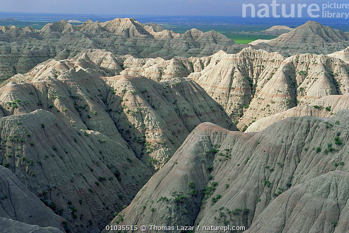Rock pinacles at Wounded Knee Massacre point, just south of Badlands NP, Pine Ridge Reservation. South Dakota, USA  ,  DESERTS,EROSION,GEOLOGY,HABITAT,LANDSCAPES,NORTH AMERICA,NP,ROCK FORMATIONS,USA,National Park  ,  Thomas Lazar