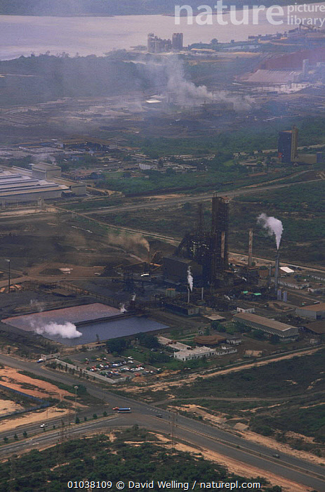 Industrial site on Orinoco river Venezuela.  ,  BUILDINGS,INDUSTRIAL,INDUSTRY,POLLUTION,RIVERS,SOUTH AMERICA,SOUTH-AMERICA  ,  David Welling