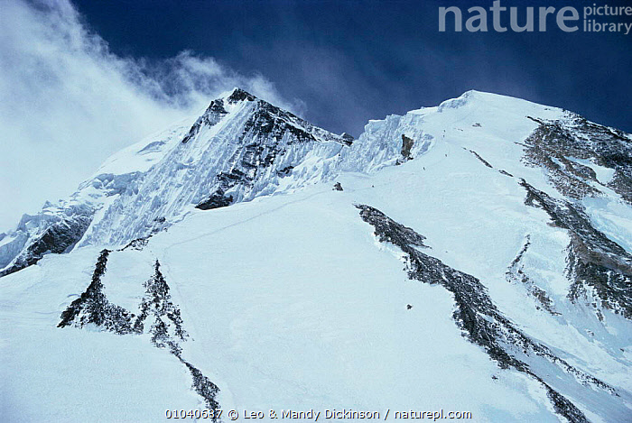 North east ridge of Mt Everest.  ,  altitude,ASIA,CHINA,high,himalayas,LANDSCAPES,MOUNTAINS,SNOW  ,  Leo & Mandy Dickinson