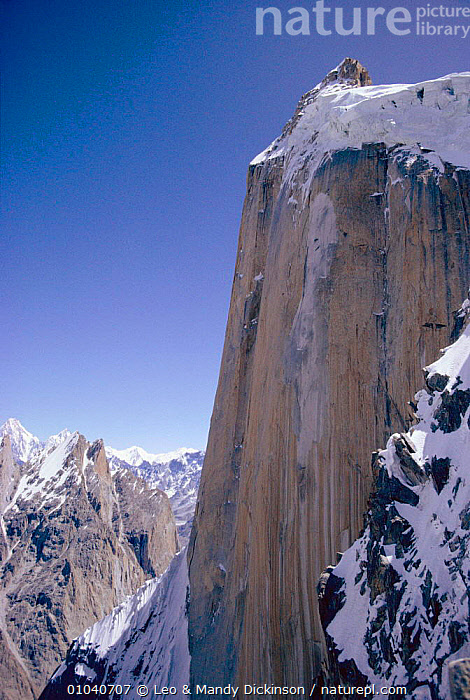 Great Trango wall in the Karakorum, Pakistan  ,  ALPINE,ASIA,FACE,INDIAN,INDIAN SUBCONTINENT,KARAKORUM,LDI,MOUNTAIN,MOUNTAINS,NORTH,SHEER,STEEP,SUBCONTINENT,TRANGO,WALL,INDIAN-SUBCONTINENT  ,  Leo & Mandy Dickinson