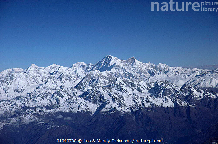 Aerial view of the Himalayas, Nepal  ,  ASIA,INDIAN SUBCONTINENT,LANDSCAPES,MOUNTAINS,SNOW  ,  Leo & Mandy Dickinson