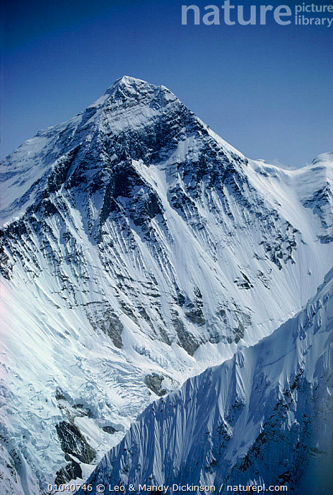 Aerial view of Mount Everest, Nuptse ridge foreground right, Himalayas, Nepal  ,  MOUNT,EVEREST,VERTICAL,RIDGE,AERIAL,SNOW,HIMALAYAS,MOUNTAINS,NUPTSE ,AERIALS,Asia  ,  Leo & Mandy Dickinson