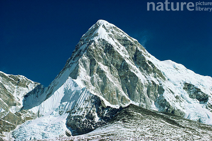 Pumori Mountain in the Himalayas, Nepal  ,  ASIA,INDIAN SUBCONTINENT,LANDSCAPES,MOUNTAINS,SNOW  ,  Leo & Mandy Dickinson