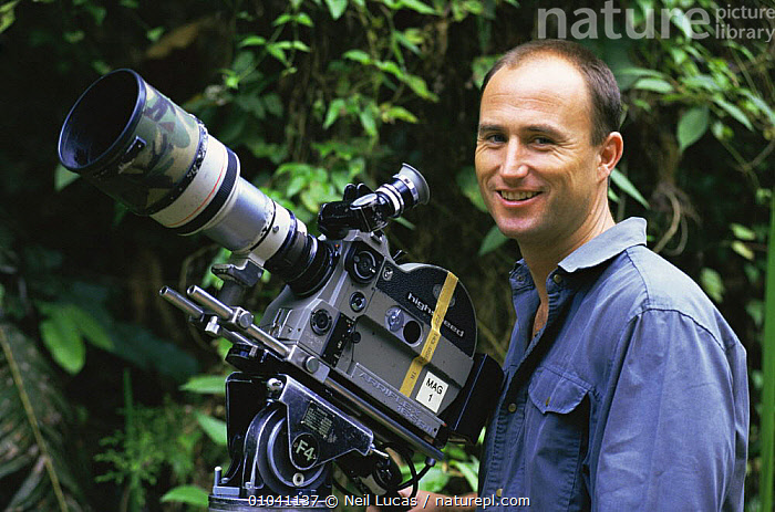 Cameraman Martyn Colbeck filming in Borneo 1997  ,  ASIA,NHU,PEOPLE,PORTRAITS  ,  Neil Lucas