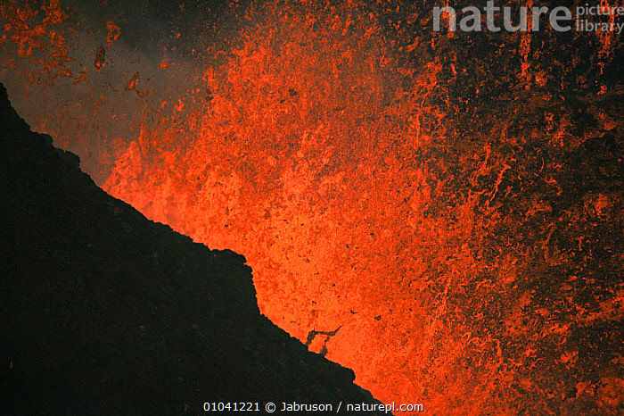 Lava explodes from active volcano, Kimanura eruption, Virunga NP, Democratic Republic of Congo (formerly Zaire)  ,  ACTION,ACTIVE,AFRICA,CENTRAL AFRICA,DRAMATIC,ERUPTION,ERUPTS,EXPLODING,FIRE,FOUNTAIN,LAVA,MOLTEN,NIGHT,RED,VOLCANIC,VOLCANOES,Geology , Bruce Davidson  ,  Jabruson