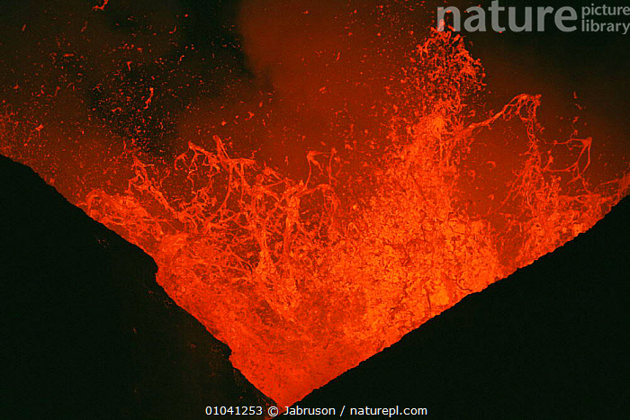 Lava explodes from active volcano, Kimanura eruption, Virunga NP, Democratic Republic of Congo (formerly Zaire)  ,  ACTION,AFRICA,CENTRAL AFRICA,DRAMATIC,ERRUPTION,EXPLODES,LAVA,MOLTEN,NIGHT,NP,RED,VOLCANIC,VOLCANOES,Geology,National Park , Bruce Davidson  ,  Jabruson