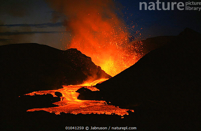 Lava fountain and subsequent flow from active Kimanura volcano, Virunga NP, Democratic Republic of Congo, formerly Zaire  ,  ACTION,ACTIVE,AFRICA,ATMOSPHERIC,CENTRAL AFRICA,DRAMATIC,ERRUPTION,ERRUPTS,EXPLOSION,FIRE,FLOWING,HEAT,LANDSCAPES,LAVA,MOLTEN,NATURAL PHENOMENA,NIGHT,NP,STREAMS,VOLCANIC,VOLCANOES,Geology,National Park , Bruce Davidson  ,  Jabruson