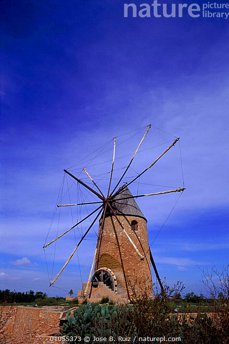 Windmill, Murcia, Spain, Europe  ,  BUILDINGS,MURCIA,TRADITIONAL,VERTICAL,WINDMILL,Europe  ,  Jose B. Ruiz