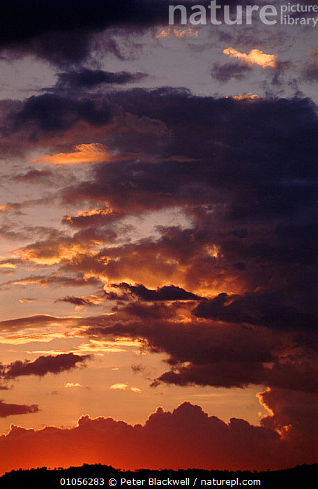 Sunset and clouds in Kenya, East Africa.  ,  AFRICA,BLACKWELL,CLOUDS,EAST AFRICA,KENYA,PBL,SUNSET,VERTICAL,WEATHER,EAST-AFRICA  ,  Peter Blackwell
