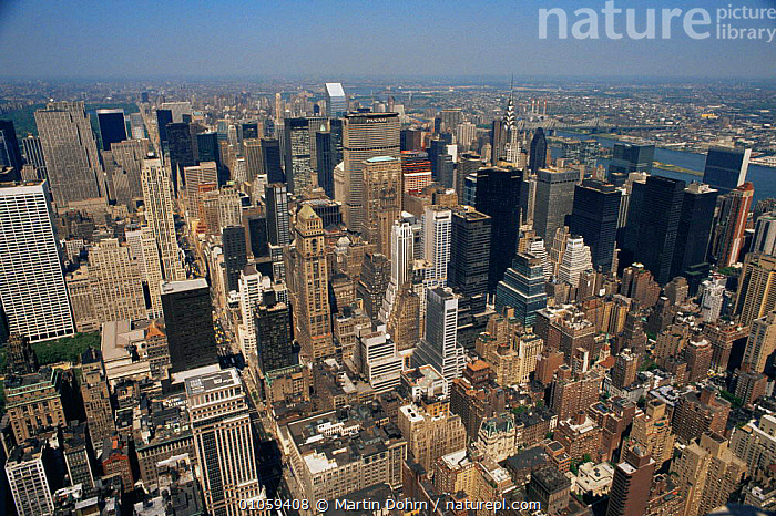 Aerial view of midtown Manhattan, New York City, New York, USA, AERIALS,BUILDINGS,CITIES,cityscapes,LANDSCAPES,NORTH AMERICA,skyline,skyscrapers,Travel,URBAN,USA, Martin Dohrn