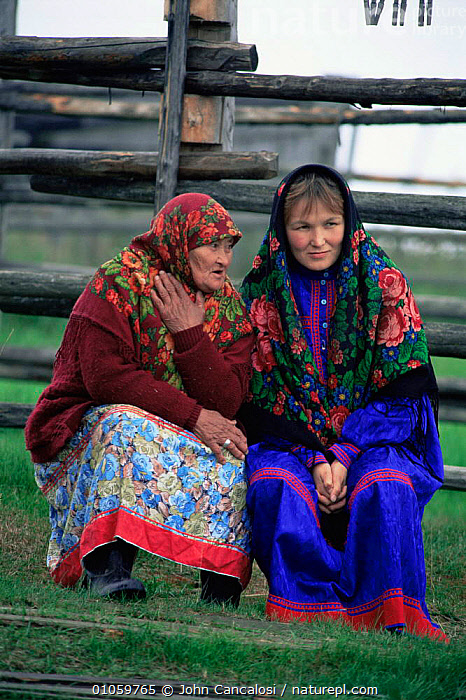 Mansi women in traditional dress, Siberia, Russia, ASIA,clothing,CULTURES,ethnic,FEMALES,PEOPLE,RUSSIA,TRADITIONAL,TRIBES,VERTICAL,CIS, John Cancalosi