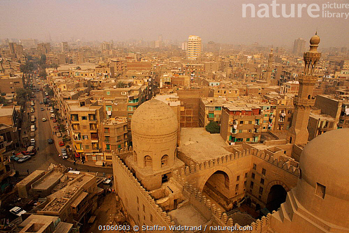 View of Cairo city, Egypt., AFRICA,BUILDINGS,CAIRO,CITIES,CITY,HORIZONTAL,MOSQUES,NORTH AFRICA,POLLUTION,POPULATION,STAFFAN,SWI,TEMPLES,TRAFFIC,VEHICLES,VIEW,WIDSTRAND,NORTH-AFRICA, Staffan Widstrand