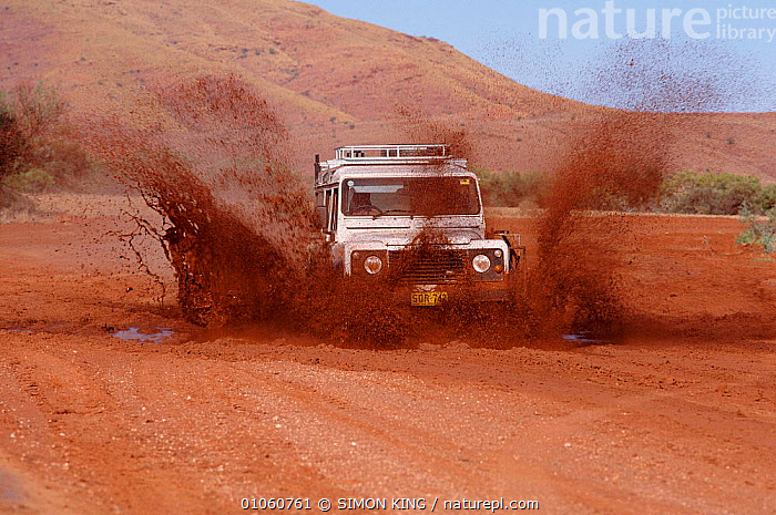 Land Rover Defender travelling through mud in Australia,, ADVENTURE,LAND ROVER,LANDROVER,MUD,OFF ROAD,OUTBACK,SK,TRAVEL,VEHICLES, SIMON KING