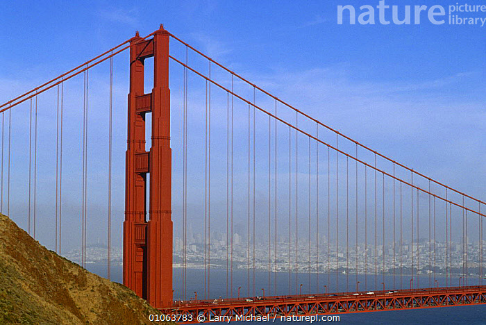 Golden gate bridge, San Francisco, California, USA, BRIDGES,CITIES,HORIZONTAL,LANDSCAPES,NORTH AMERICA,USA, Larry Michael
