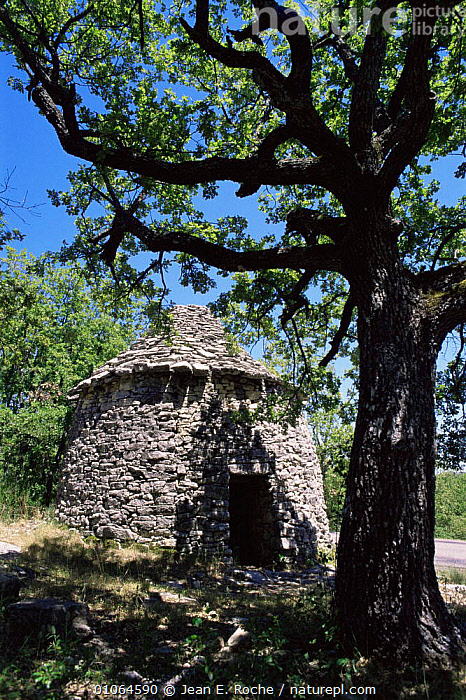 """""""Borie"""", traditional dry stone buiding, Forcalquier,   Provence, France, BUILDINGS,EUROPE,FRANCE,VERTICAL, Jean E. Roche"""