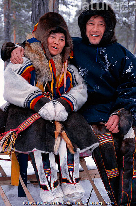 Katja & Vladimir Nyurov, Nentsy, Kanin Peninsula, W Arctic Russia., FAMILIES,LANDSCAPES,MALE FEMALE PAIR,MAN,PEOPLE,PORTRAITS,TRADITIONAL,WEST,WOMAN,CIS, Staffan Widstrand