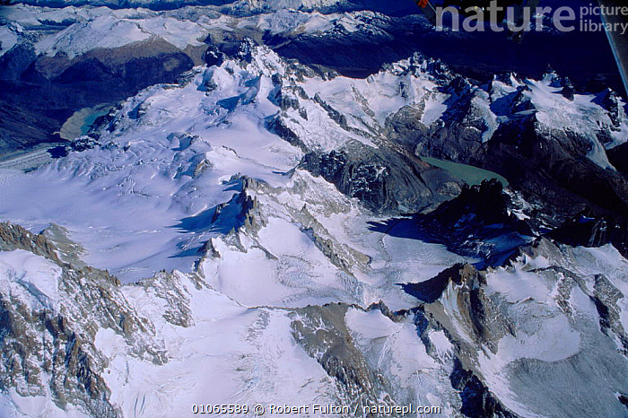 Aerial view of Lago Argentino mountain range, Argentina,, AERIAL,AMERICA,ARGENTINO,CLOUDS,COLD,FULTON,HORIZONTAL,LAGO,LAKE,LANDSCAPES,MOUNTAIN,MOUNTAINS,RANGE,RFU,ROBERT,SNOW,SOUTH,SOUTH AMERICA,VIEW,WEATHER ,AERIALS,SOUTH-AMERICA, Robert Fulton