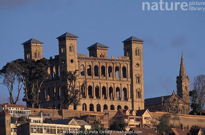 Remains of Queen's palace, Antananarivo, Madagascar  ,  LANDSCAPES,BUILDINGS,CITIES,RUINS,MADAGASCAR  ,  Pete Oxford